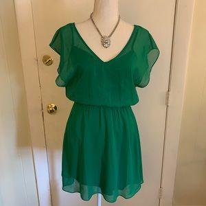 Emerald Green Mini Dress